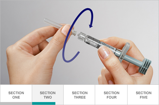 Attach needle to syringe